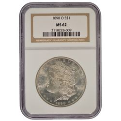 1890-O $1 Morgan Silver Dollar Coin NGC MS62