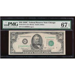 1950C $50 Chicago Federal Reserve Note PMG 67EPQ