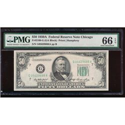 1950A $50 Chicago Federal Reserve Note PMG 66EPQ
