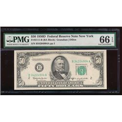 1950D $50 New York Federal Reserve Note PMG 66EPQ