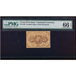 5 Cent First Issue Fractional Note PMG 66EPQ