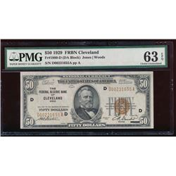 1929 $50 Cleveland Federal Reserve Bank Note PMG 63EPQ