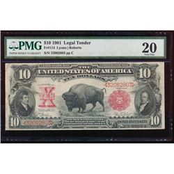 1901 $1 Bison Legal Tender Note PMG 20