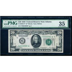1928 $20 Atlanta Federal Reserve Star Note PMG 35