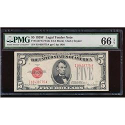 1928F $5 Legal Tender Note PMG 66EPQ