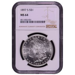1897-S $1 Morgan Silver Dollar Coin NGC MS64
