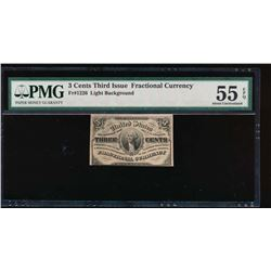 3 Cent Third Issue Fractional Note PMG 55EPQ