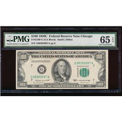 1950C $100 Chicago Federal Reserve Note PMG 65EPQ
