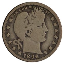 1896-O Barber Quarter Coin