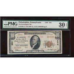 1929 $10 Philadelphia Nation Bank Note PMG 30EPQ