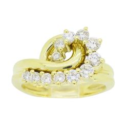 18KT Yellow Gold 0.60ctw Diamond Ring