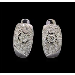 14KT White Gold 0.93 ctw Diamond Earrings