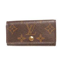 Louis Vuitton Monogram Canvas Leather 4 Key Holder
