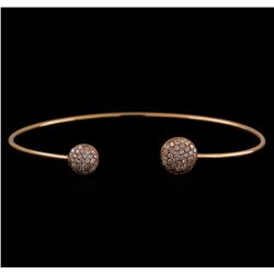 14KT Rose Gold 0.54 ctw Diamond Bangle Bracelet