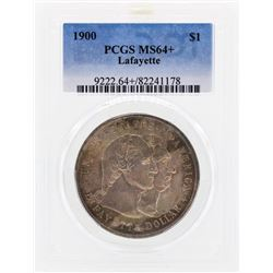 1900 Lafayette Commemorative Dollar Coin PCGS MS64+