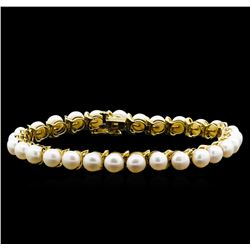 14KT Yellow Gold 5.5MM Pearl Bracelet