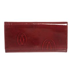 Cartier Red Patent Leather Happy Birthday Wallet