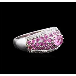 18KT White Gold 1.88 ctw Pink Sapphire and Diamond Ring