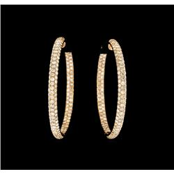 7.92 ctw Diamond Earrings - 14KT Rose Gold
