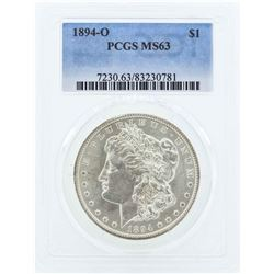 1894-O $1 Morgan Silver Dollar Coin PCGS MS63