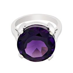 14KT White Gold 11.72 ctw Amethyst Ring