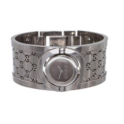 Gucci Stainless Steel Twirl Collection Bangle Bracelet Watch