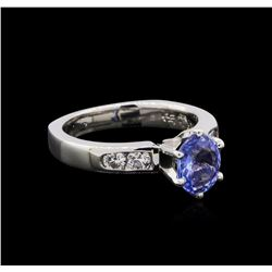 1.11 ctw Sapphire and Diamond Ring - Platinum
