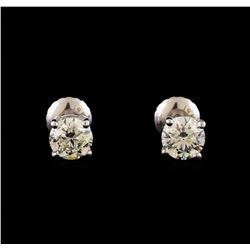 14KT White Gold 1.19 ctw Diamond Solitaire Earrings