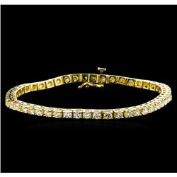 4.00 ctw Diamond Tennis Bracelet - 14KT Yellow Gold