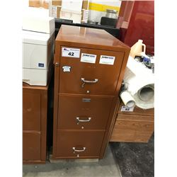3 DRAWER LETTER SIZE FIRE PROOF FILE CABINET