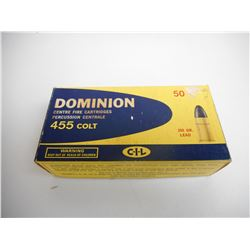 DOMINION 455 COLT AMMO
