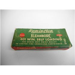 REMINGTON 401 WIN SELF LOADING AMMO