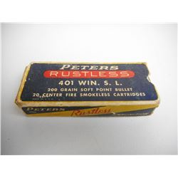 ASSORTED 401 WINCHESTER SELF LOADING