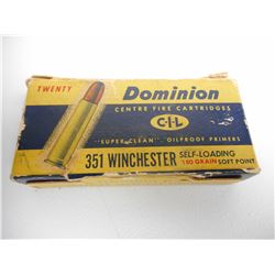 ASSORTED 351 WINCHESTER SELF LOADING AMMO