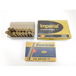 ASSORTED 303 BRITISH AMMO