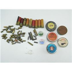 ASSORTED AMMO & PERCUSSION CAPS
