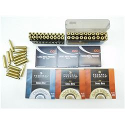 ASSORTED PRIMERS & BRASS