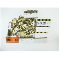 ASSORTED AMMO & PRIMED BRASS