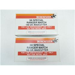 WINCHESTER 38 SPECIAL RANGER MATCH AMMO