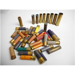 ASSORTED SHOTGUN AMMO AND BRASS
