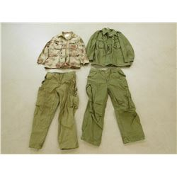 ASSORTED MILITARY CLOTHES