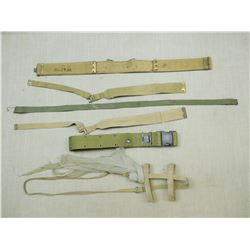 ASSORTED WWII BELTS & STRAPS