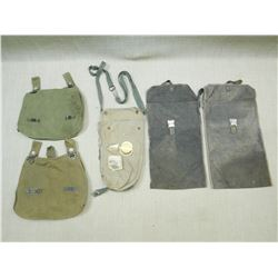 ASSORTED WWII GERMAN MILITARY BAGS