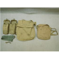 ASSORTED WWII BROAD ARROW MILITARY BAGS