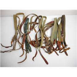 ASSORTED CANVAS/LEATHER SLINGS