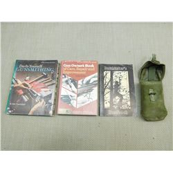 ASSORTED FIREARMS BOOKS & POUCH
