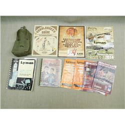 ASSORTED RELOADING MATERIALS & POUCH