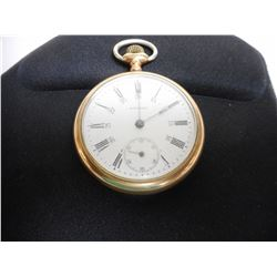 WALTHAM OPEN FACED POCKET WATCH