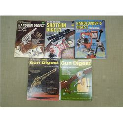 ASSORTED FIREARM DIGEST BOOKS