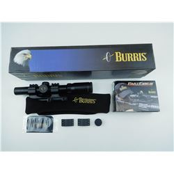 BURRIS XTEME TACTICAL XTR 30MM SCOPE IN BOX AND RED DOT REFLEX SIGHT